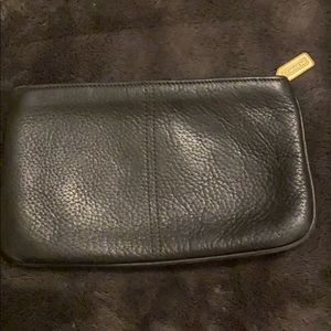 COACH Black Pebble Leather Case